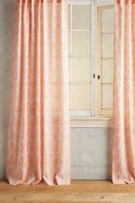 """NEW ANTHROPOLOGIE PINK PARADISE FOUND FEATHERED CURTAIN WINDOW PANEL 50"""" X 96"""""""