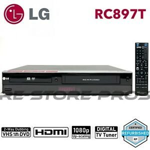 LG RC897T DVD VCR Combo Player VHS to DVD Recording HDMI 1080p Upscaling Remote