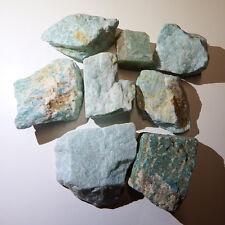 Amazonite (4) Crystals Natural raw rough healing chakra heart stones eft