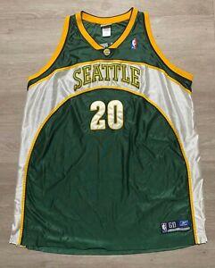 Reebok Vintage Seattle Supersonics Road Jersey 20 Gary Payton Basketball Sz 60