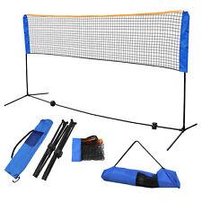 10 x 5' Badminton Beach Volleyball Tennis Net Adjustable Height Train Portable