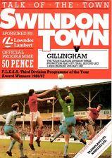 Swindon Town v Gillingham programme, Div 3 Play Off Final 2nd Leg, May 1987