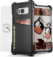 Galaxy S8 Plus Wallet Case, Ghostek Exec Premium TPU Leather Credit Card Holder