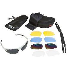 CHEX Ace Sunglasses Sports Glasses 5 Interchangeable Lenses White Flexible Frame