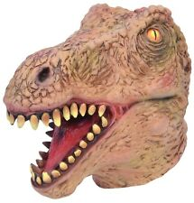 Adults Mens Realistic Jurassic Dinosaur T Rex Mask Fancy Dress Costume Accessory