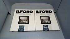 2 pack New genuine Ilford MG4RC44M, 8x10, 25 SHEETS # 1168310 Pearl