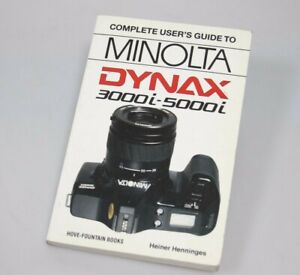 Minolta Dynax 7000i and 5000i, a Hove Guide Manual by Heiner Henninges 176 pages