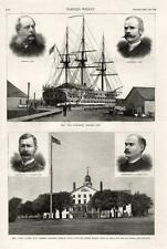 "U. S. War College, Newport, R. I.  -  Training Ship  ""New Hampshire""  -  1885"