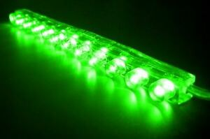 """Green 4"""" LED Strip R1 R6 R3 GSXR SV1000 250R 300R ZX6 ZX10 ZX12 ZX14 Z1000 CBR"""
