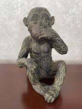 Monkey Speak No Evil - Resin Material Made By Darice.