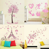 Removable Wall Flower Butterfly Decals GIFT Stickers Wardrobe Bedroom Home Art