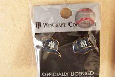 NY New York Yankees NY cap logo pierced ear earrings, post type