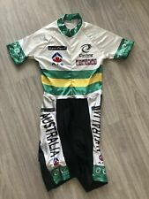 Skinsuit Australia National Cycling Team Cyclone T.S Cyclisme Jersey Bib Vintage