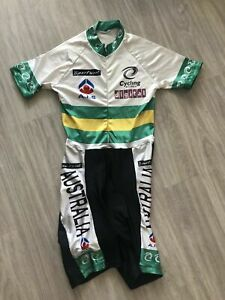 Skinsuit Australia National Cycling Team Cyclone T.S Cyclisme Jersey Bib Vintage