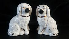 Small Staffordshire Dogs Vintage Mantle Dogs Pair 4 Inches