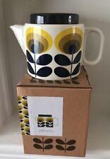 ORLA KIELY CeramiC Teapot-70s Oval Flower/Yellow ( BNIB)