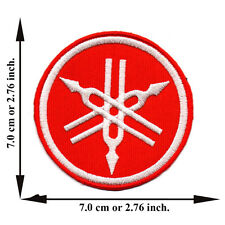 Red Yamaha Motorcycle Biker Racing Team Club Logo Applique Iron on Patch Sew