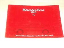 46200) Mercedes 190 D W201 Prospekt 04/1984