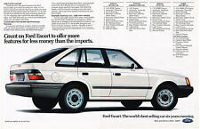 Vintage 1981 2-Page Magazine Ad Ford Escort Offers More Features For Less Money