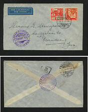 Netherlands  Indies  first flight cover local use  1936        MS0815