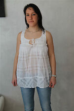 M& FRANCOIS GIRBAUD top bustier coton blanc TAILLE XXS (34) * NEUF ÉTIQUETTE *