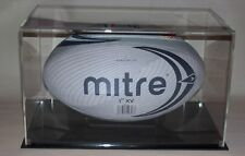 SIGNED RUGBY BALL DISPLAY CASE ACRYLIC PERSPEX