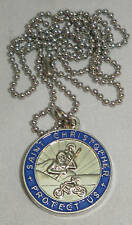 St Christopher Rides a Yamaha Bikers Saint Medal Necklace