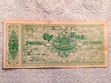 Antique Bearer Note from Treasurer's Office...Woodstock, Ontario in the 1860's