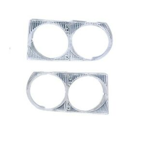 Left & Right Headlight Trim Cover Frame For Mercede R107 380SL 380SL 450SL 560SL