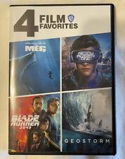 New listing 4 Film Favorites: The Meg, Ready Player One, Blade Runner 2049, Geostorm (Dvd)