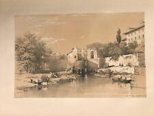 Cordoba Molino arabe . George Vivian, litografia original.Londres 1838