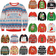 ROT UGLY XMAS CHRISTMAS SWEATER Vacation Santa Elf Novelly Women Men Sweatshirt