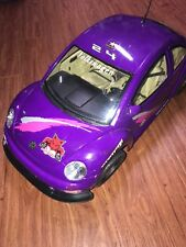Used Volkswagen VW New Bright Purple Racing Beetle RC 1:6 Scale Body Shell AS IS
