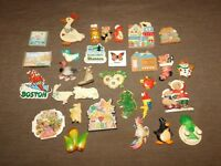 LARGE LOT OF 30 REFRIGERATOR MAGNETS GOOSE FLORIDA BOSTON COW  +++