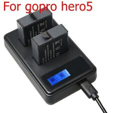 Genuine Battery fast Charger Dual USB Cable Smart LCD Display for GoPro Hero 5