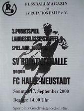 Programm 2000/01 SV Rotation Halle - FC Halle Neustadt
