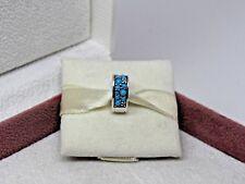 New w/Box Pandora Arcs of Love Blue Crystal Charm CLIP ANYWHERE 797227NYA