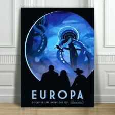 "COOL NASA TRAVEL CANVAS ART PRINT POSTER - Europa - Space Travel - 12x8"""