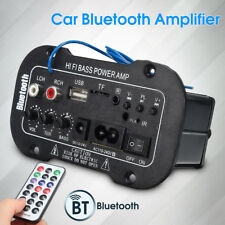 Universal Vehicle Car Bluetooth Hifi Power Bass Stereo Amplifier AMP USB Remote