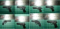 Set of 8 1/6 Scale Hot pistol hand gun QSZ92 II M1935 357 Colt Python M92F Toys