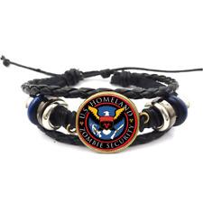 Zombie Security Glass Cabochon Bracelet Braided Leather Strap Bracelets