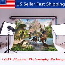 7x5ft Dinosaur Studio Backdrop Photography Props Photo Background Decor