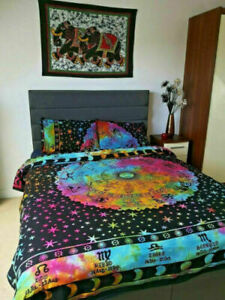 Hippie Bohemian Queen Size Doona Cover Indian Mandala Bedding Quilt Cover Cover