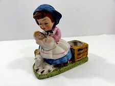 Farm Mother holding Baby w little sheep Candle Holder (design by Verona Vergasi)