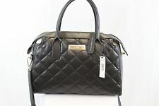 DKNY Quilted Lamb Nappa Leather Black Purse Cross Body MSRP $395 NEW TAGS