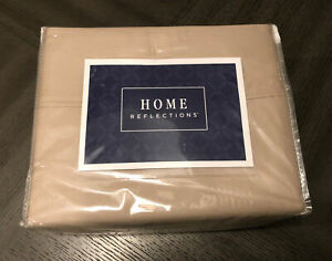 Home Reflections 800TC 6pc Queen Sheet Set - 4 Pillowcases Taupe Coffee Tan QVC