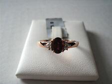 9 Carat Solitaire with Accents Rose Gold Fine Rings