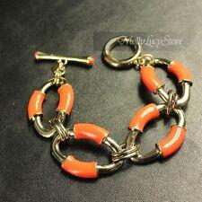 BANANA REPUBLIC Women Fashion  Luxury orange glaze link chain bracelet    #G3