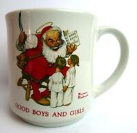 Good Boys Girls List Santa Claus Norman Rockwell Mug Christmas Series Vintage
