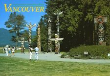 Totem Poles Vancouver BC Indigenous History First Nations Peoples Postcard D20